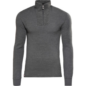Woolpower 200 Sweat-shirt à col roulé avec demi-zip, grey